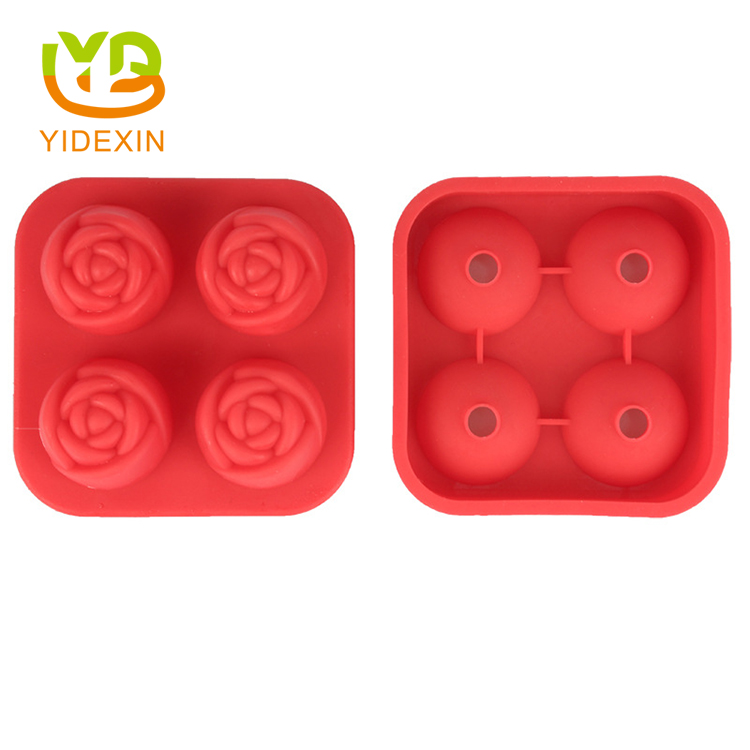 Silicone Rose Ice Cube Mold