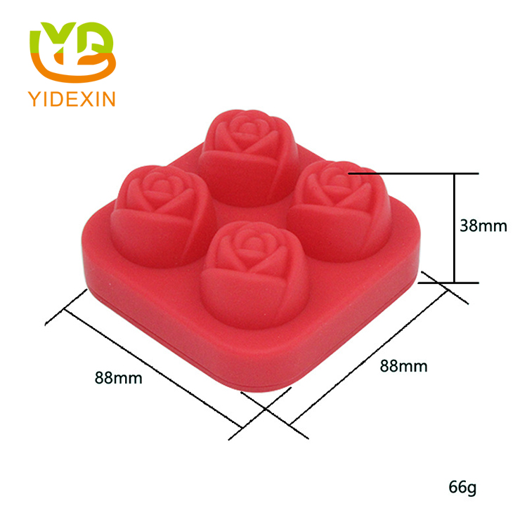 DIY 3D Silicone Ice Cube Rose Mold