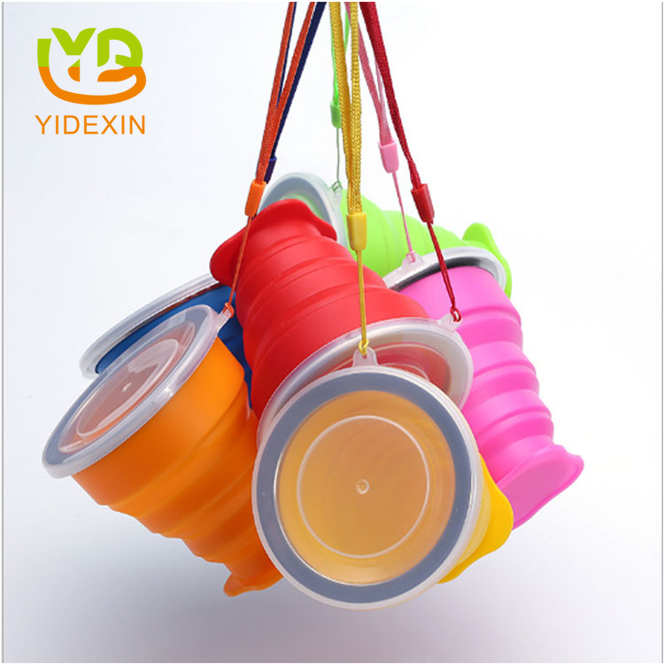 Portable silicone water cup