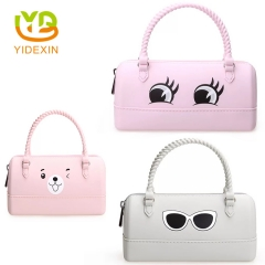 Pink Color Small Silicone Women Handbags