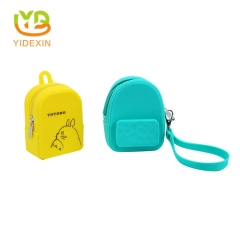 Mini Silicone Small Backpack Purse Coin Wallet